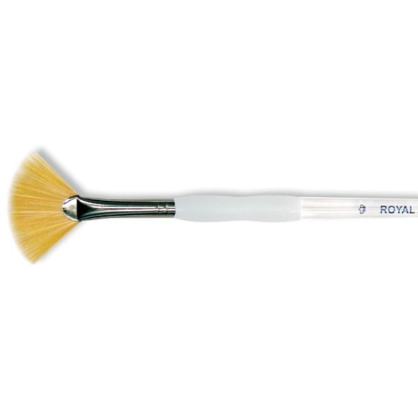 Soft-Grip Golden Taklon Fan Brush