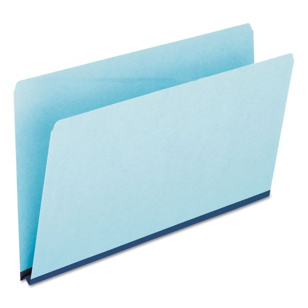 Pendaflex Pressboard Expanding File Folders, Straight Cut, Top Tab, Legal, Blue, 25/Box