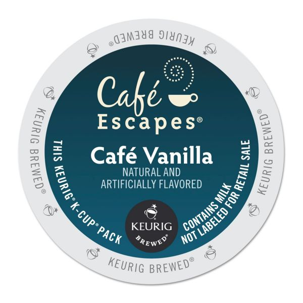 Café Escapes Café Vanilla Coffee K-Cups