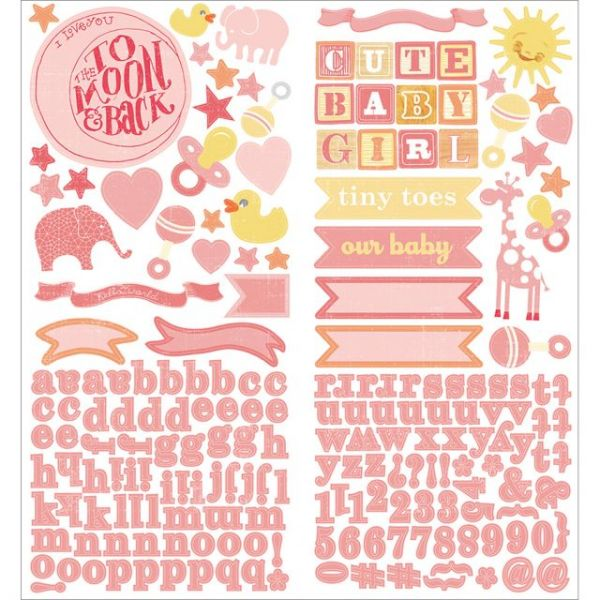 """Story Time Girl Cardstock Stickers 6""""X12"""" 2/Sheets"""