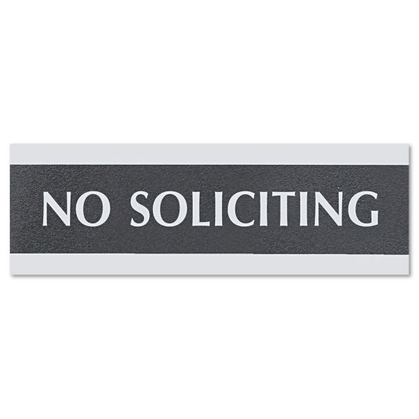 "U.S. Stamp & Sign ""No Soliciting"" Sign"