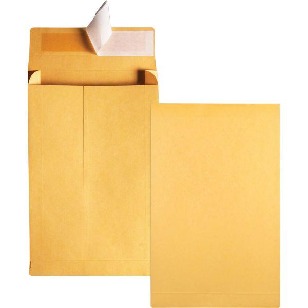 Quality Park Redi Strip Kraft Expansion Envelope, 9 x 12 x 2, Brown, 25/Pack