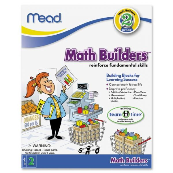 Mead Second Grade Math Builders Workbook Education Printed Book for Mathematics