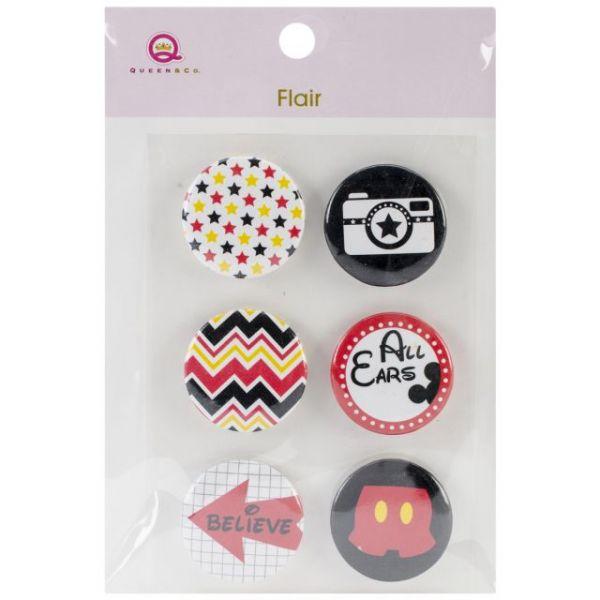 Magic Flair Self-Adhesive Tin Badges 6/Pkg