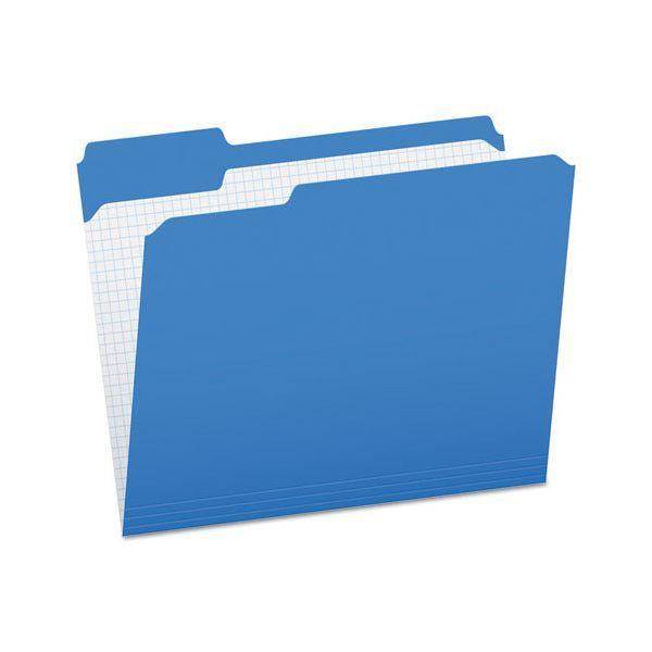 Pendaflex Reinforced Top Tab File Folders, 1/3 Cut, Letter, Blue, 100/Box