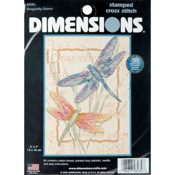 Dimensions Dragonfly Dance Mini Stamped Cross Stitch Kit