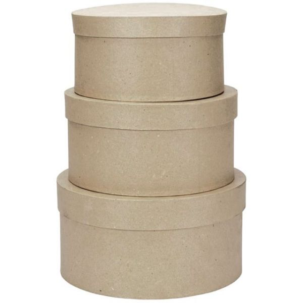 Paper-Mache Round Box Set
