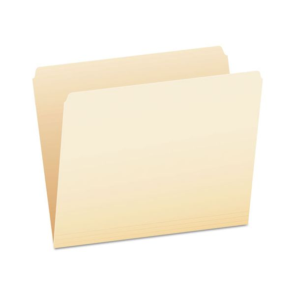 Pendaflex File Folders, Straight Cut, Top Tab, Letter, Manila, 100/Box
