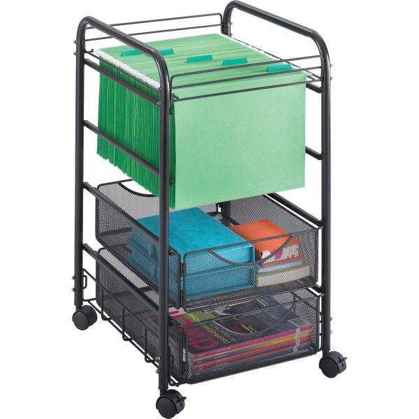 Safco Onyx Mesh Open Mobile File Cart