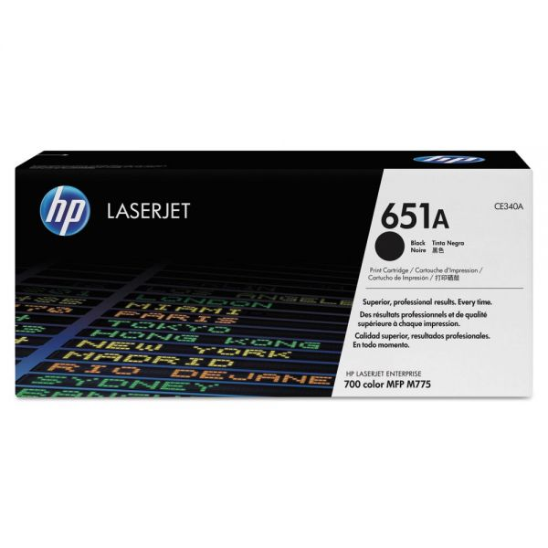 HP 651A Black Toner Cartridge (CE340AG)