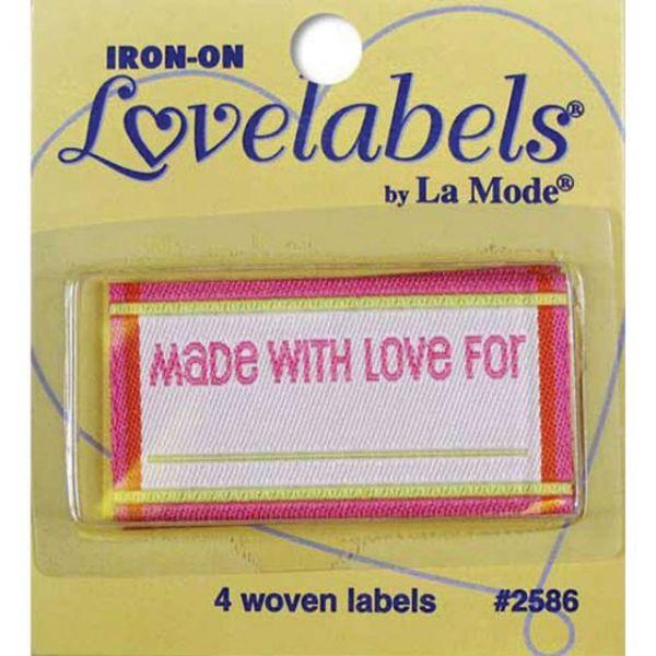 Iron-On Lovelabels 4/Pkg