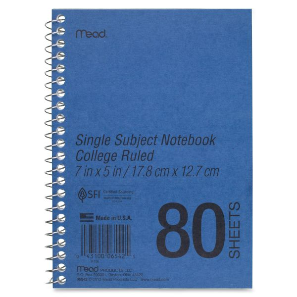 Mead Heavyweight College Ruled Spiral Notebook