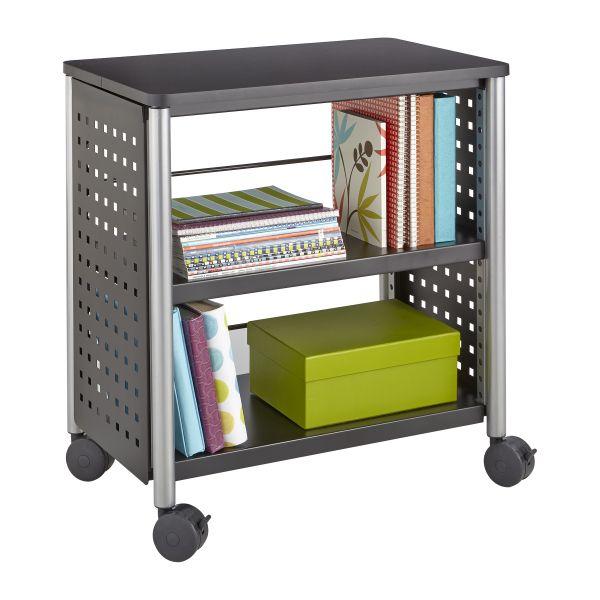 Safco Scoot Personal 2-Shelf Metal Bookcase