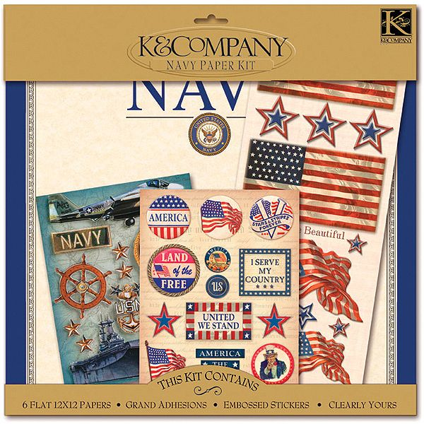 K&Company Military Scrapbook Kit