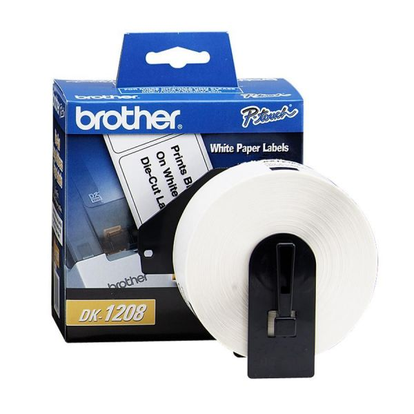 "Brother Die-Cut Address Labels, 1-2/5"" x 3-1/2"", White, 400/Roll"