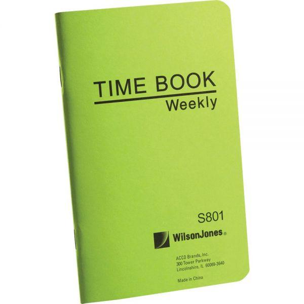 Wilson Jones Foreman's Pocket Size Time Book