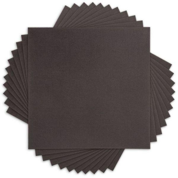 Core'dinations Black Canvas Cardstock
