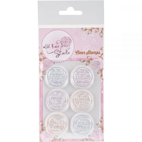 "Wild Rose Studio Ltd. Clear Stamp 3.5""X3"""