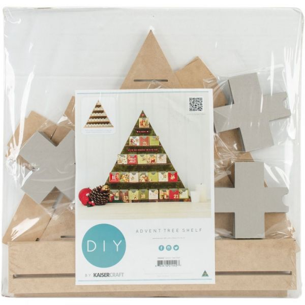 Beyond The Page MDF Shelf Tree Advent Calendar