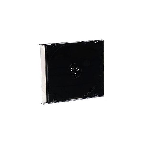 Verbatim CD/DVD Black Slim Jewel Cases - 200pk (bulk) - TAA Compliant