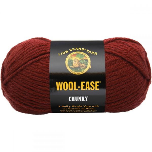 Lion Brand Wool-Ease Chunky Yarn - Mulberry