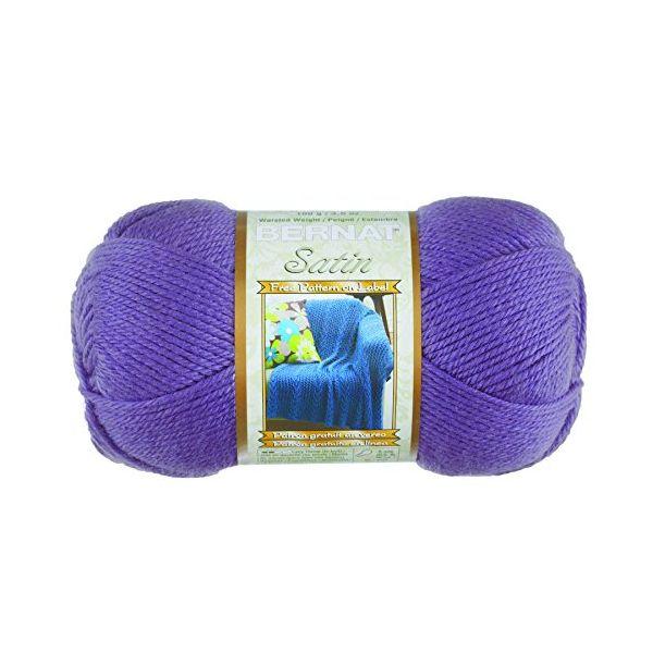 Bernat Satin Yarn - Lavender