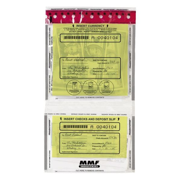 MMF Industries FraudStopper Twin-Pocket Deposit Bags