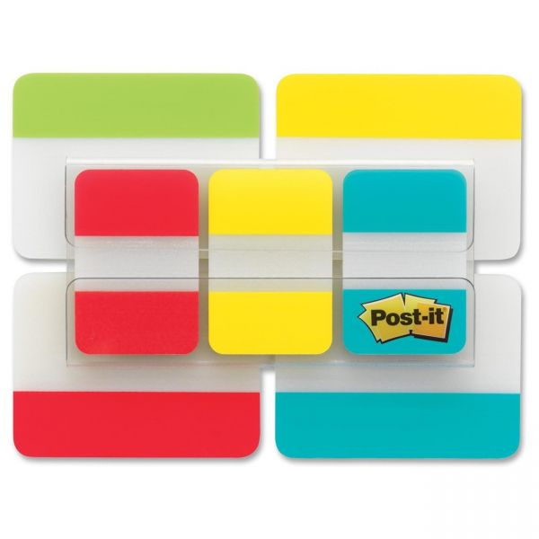 "Post-it Tabs Value Pack, 1"" and 2"" sizes, Assorted Primary Colors"