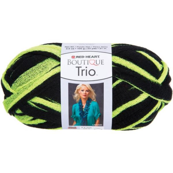 Red Heart Boutique Trio Yarn - Neon Yellow