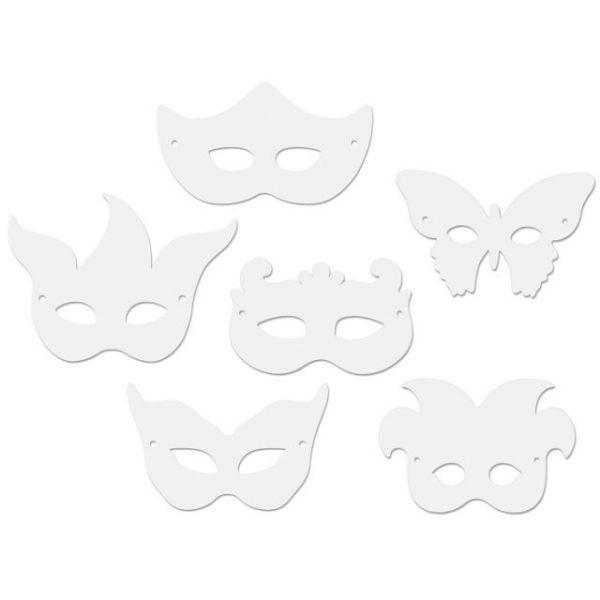 Paper Mardi Gras Masks 24/Pkg