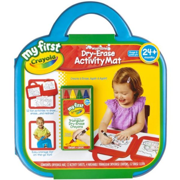 My First Crayola Washable Dry-Erase Activity Mat