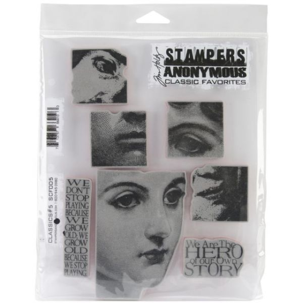 "Stampers Anonymous Rubber Stamp Set 7""X8.5"""
