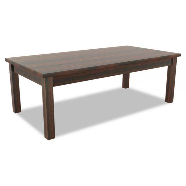 Alera Alera Valencia Series Occasional Table, Rectangle,47-1/4 x 20 x 16 3/8, Mahogany