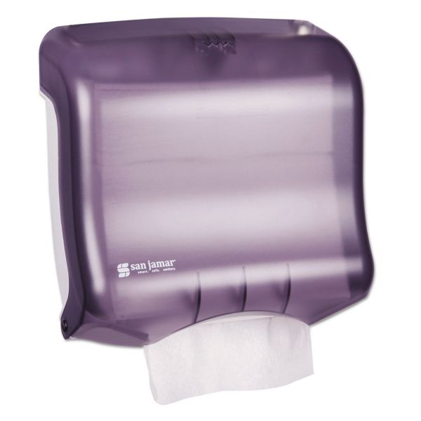 San Jamar Ultrafold Towel Dispenser, 11 1/2w x 6d x 11 1/2h, Black Pearl