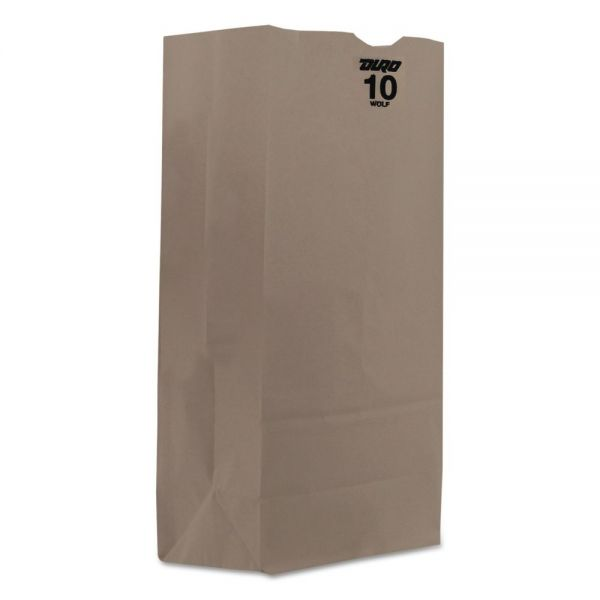 General #10 Paper Grocery Bag, 35lb White, Standard 6 5/16 x 4 3/16 x 12 3/8, 2000 bags