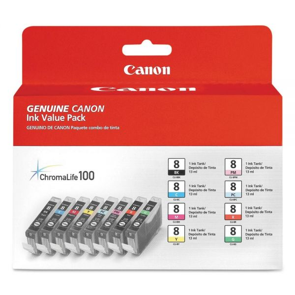 Canon CLI-8 Black/Color Value Pack Ink Cartridges