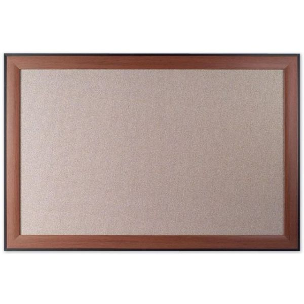 Quartet Fabric Board with Cherry Frame