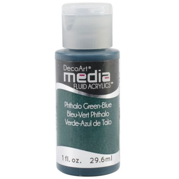 Deco Art Media Phthalo Green-Blue Fluid Acrylics