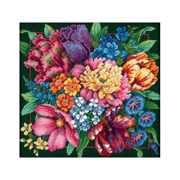 Floral Splendor Needlepoint Kit