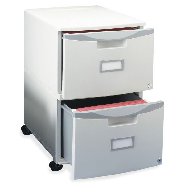 Storex Two-Drawer Mobile File Cabinet