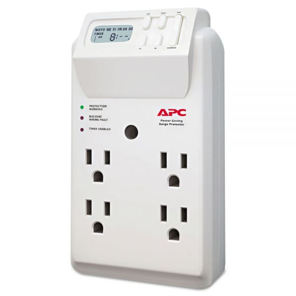 APC SurgeArrest Surge Protector, 4 Outlets, 1020 Joules, White