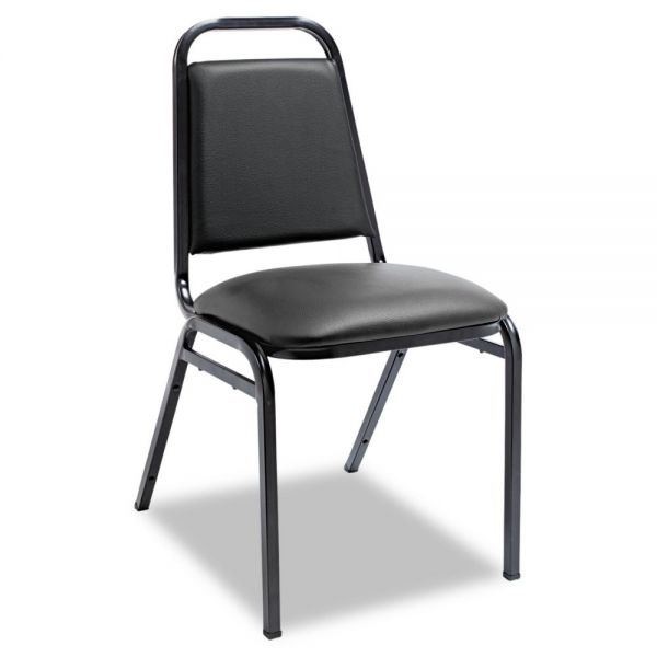 Alera Upholstered Stacking Chairs with Square Backs