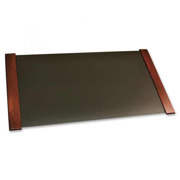 Carver Desk Pad With Wood End Panels, Mahogany Finish, 38 x 21