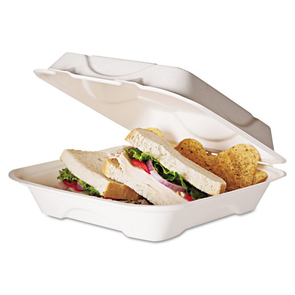 Eco-Products Takeout Sugarcane Clamshell Food Containers