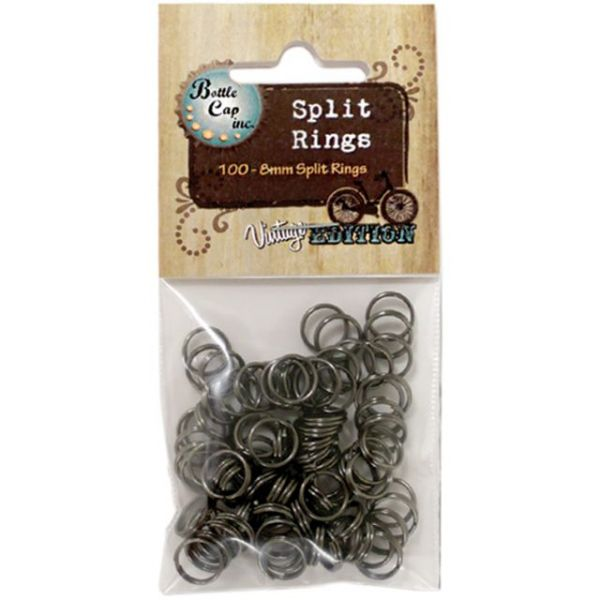 Vintage Collection Split Rings 8mm 100/Pkg