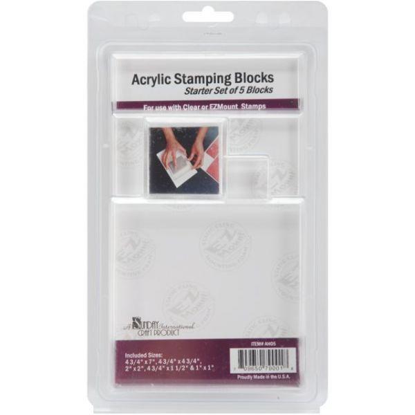 Acrylic Block Starter Set 5/Pkg