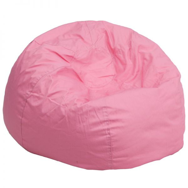 Flash Furniture Oversized Solid Light Pink Bean Bag Chair