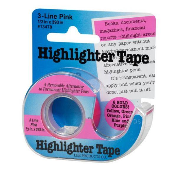 """Fluorescent Highlighter Tape .5""""X720"""""""