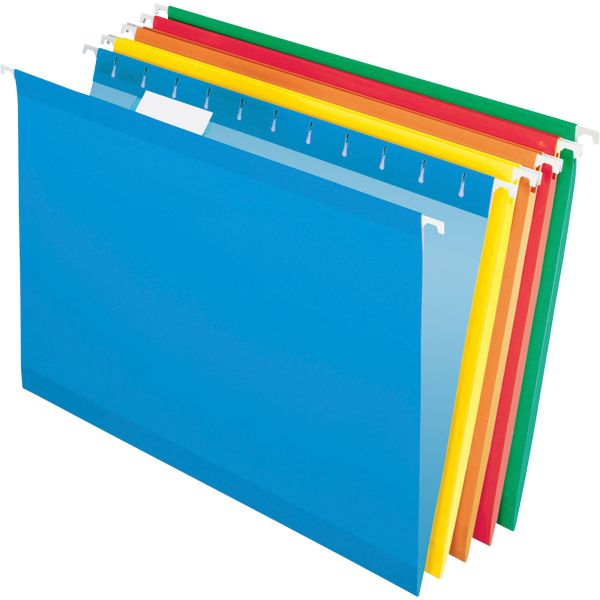 Pendaflex Reinforced Hanging Folders, 1/5 Tab, Legal, Assorted, 25/Box