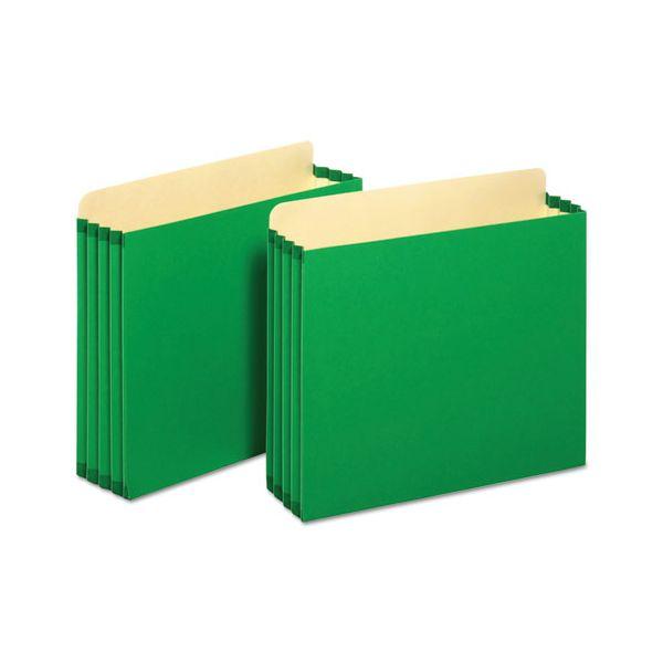 Pendaflex File Cabinet Pockets, Straight Cut, 1 Pocket, Letter, Green